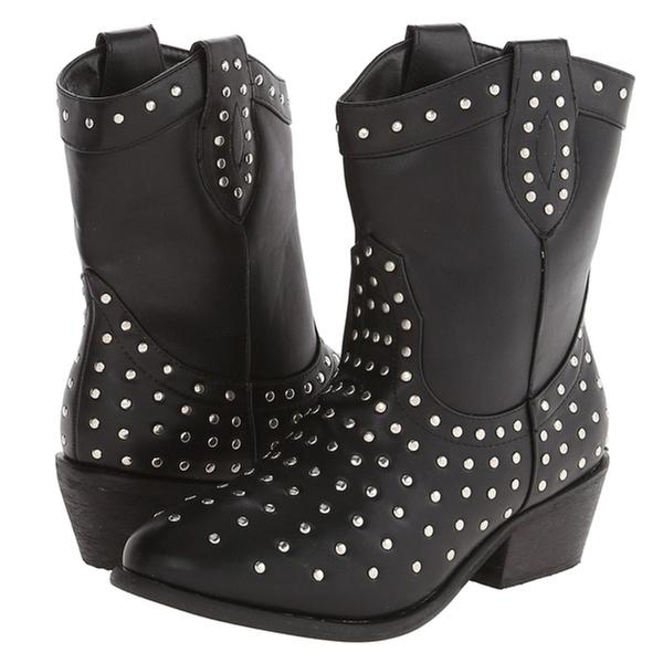 Charles Albert Women's New-8939 Modern Studded Cowboy Boots